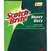 3M pad01 Heavy Duty Scour Pad, 1, Green, 8