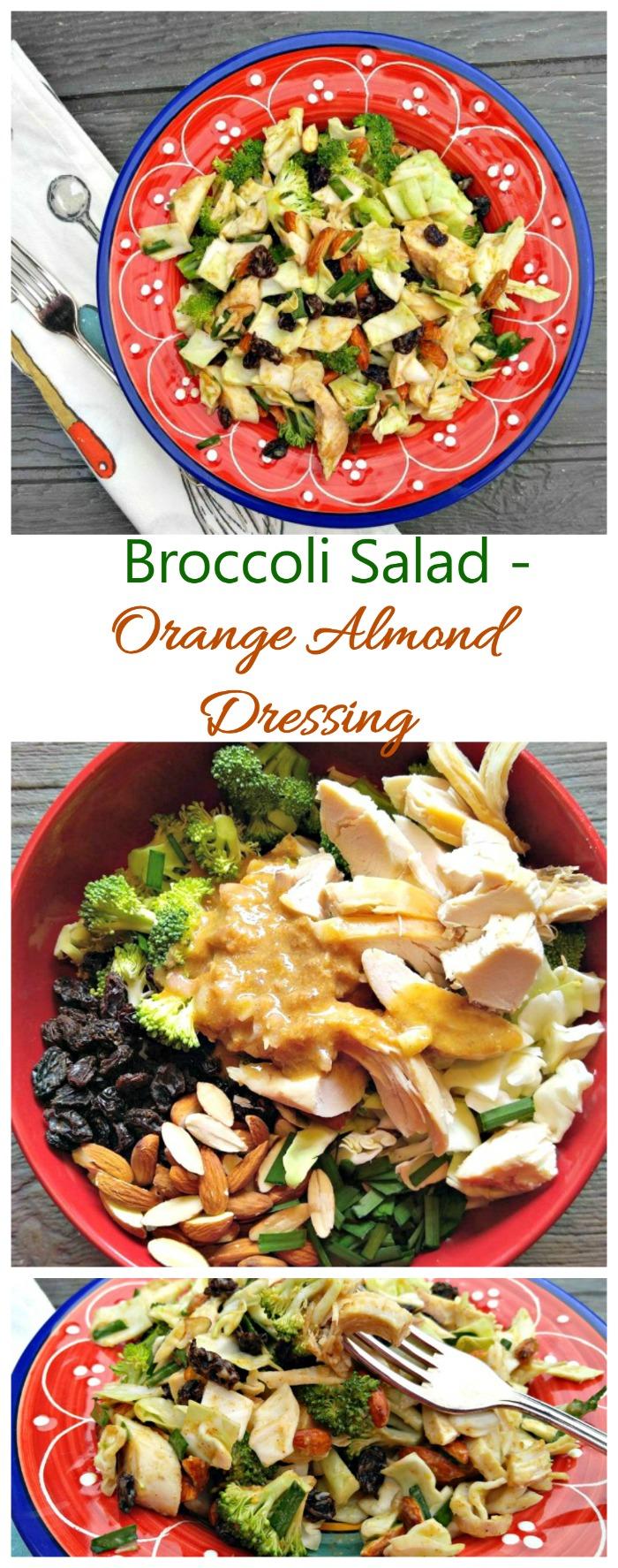 Broccoli Salad with Orange Almond Dressing