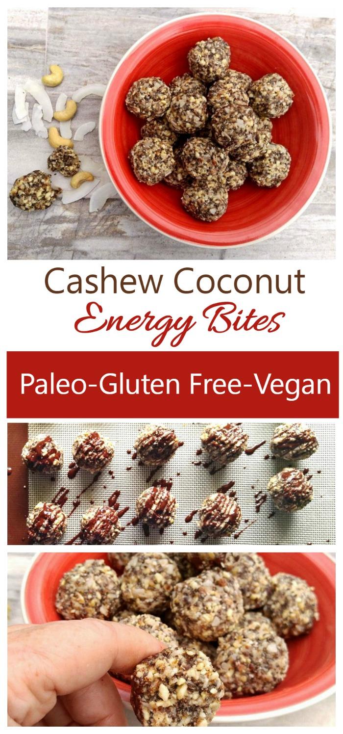 Cashew Coconut Energy Bites - Paleo - Gluten Free - Dairy Free