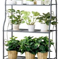 Three-Tiered Flower Stand for Multi-Function Plant Tiered Stand Plant Display Stand Stainles Steel Storage Rack