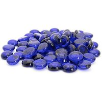 Blue Flat Marbles, Pebbles, Glass Gems for Vase Fillers, Party Table Scatter, Wedding, Decoration, Aquarium Decor, Crystal Rocks, or Crafts by Royal Imports, 5 LBS (Approx 400 pcs)