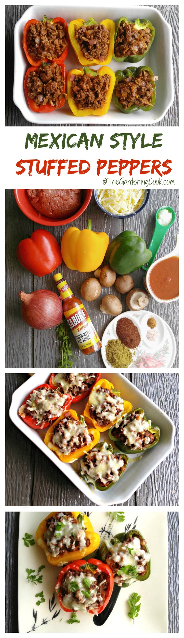 Mexican Style Stuffed Peppers - a Spicy Dinner Time Recipe