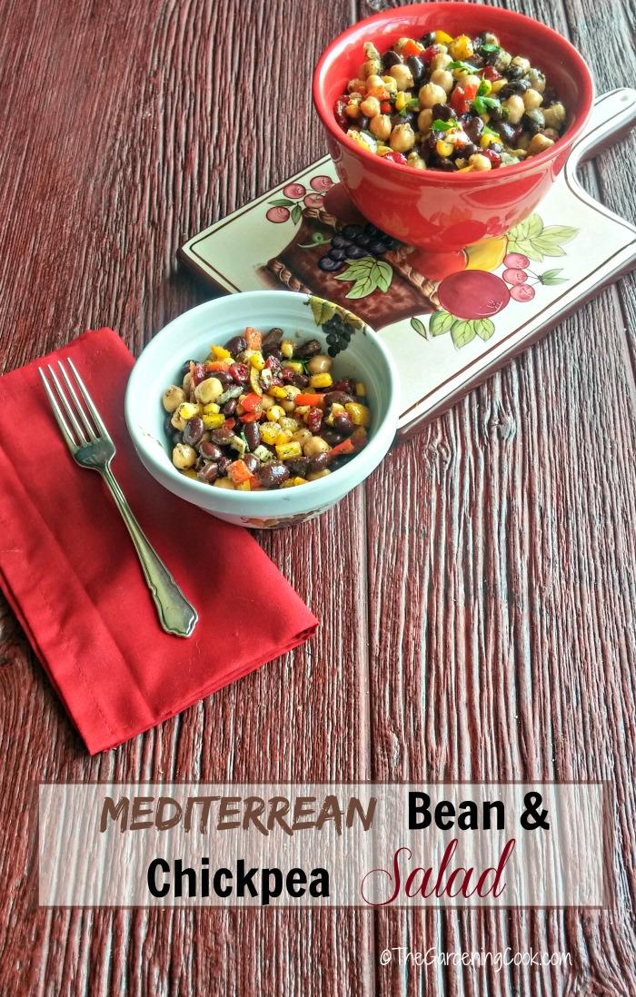 Mediterranean Bean & Chickpea Salad