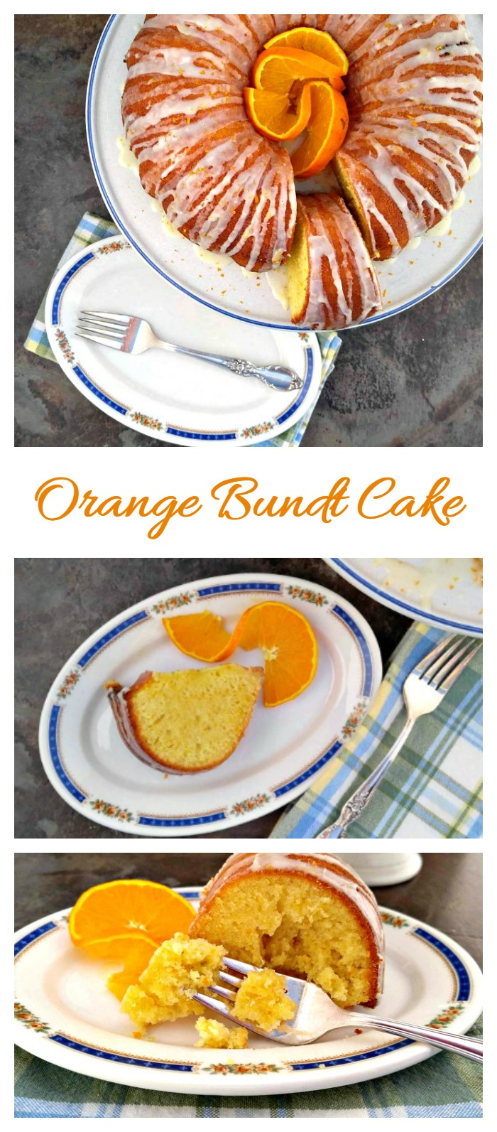 Orange Bundt Cake with Orange Glaze