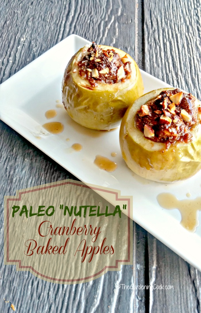 Paleo Nutella Cranberry Baked Apples