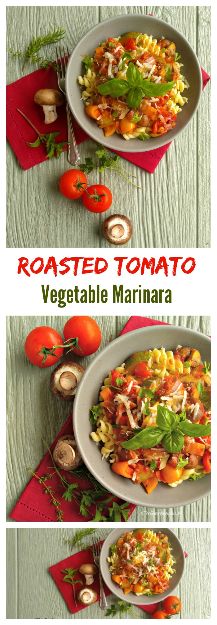 Chunky Roasted Tomato Vegetable Marinara with Pasta