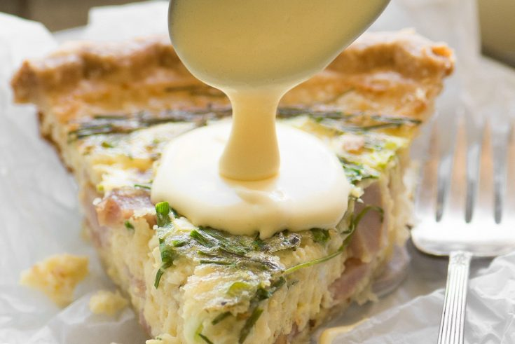 Eggs Benedict Quiche with Hollandaise Sauce