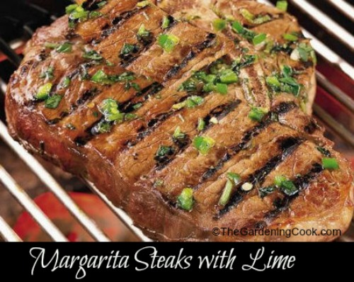Margarita steaks with Cilantro and lime