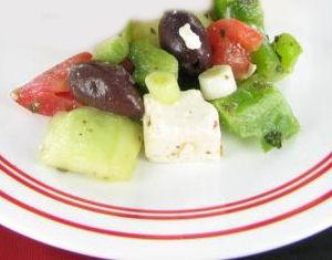 Greek Salad with Kalamata Olives and Goat Cheese