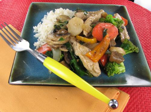 Turkey Stir Fry with Mixed Vegetables