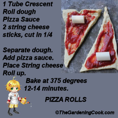Pizza Dough Roll Ups