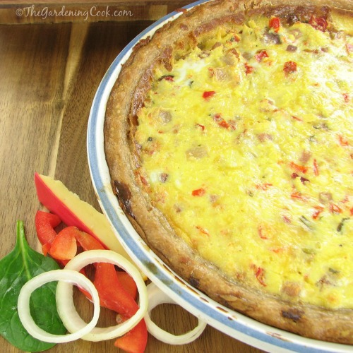 Spinach Gouda and Onion Quiche