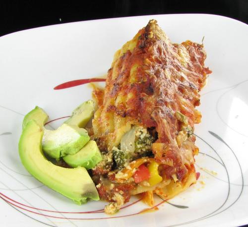Vegetable Manicotti - Healthy Italian Main Course Recipe