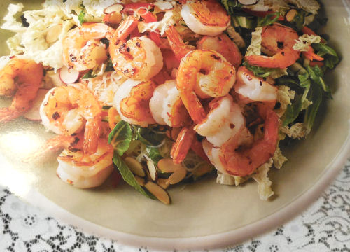 Spicy Shrimp with Cabbage Slaw