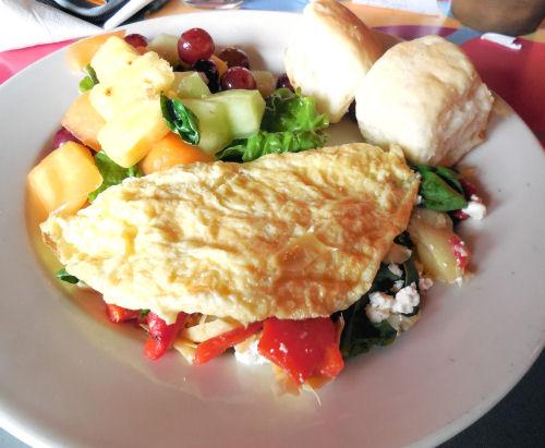 Artichokes and Feta Cheese Omelette