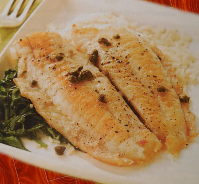 Tilapia Piccata with Wine and Capers