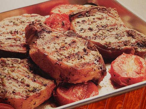 Grilled Pork Chops with Herb Garlic Rub