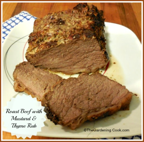 Roast Beef with Mustard and Thyme