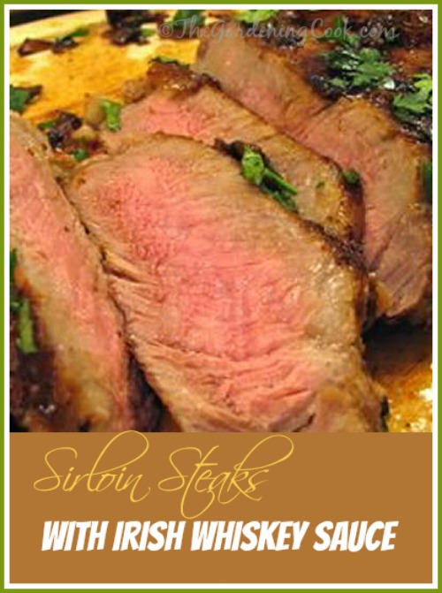 Sirloin Steaks with Baileys Irish Cream and Whiskey Sauce