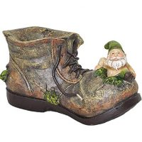 Gnome on Shoe Garden Planter