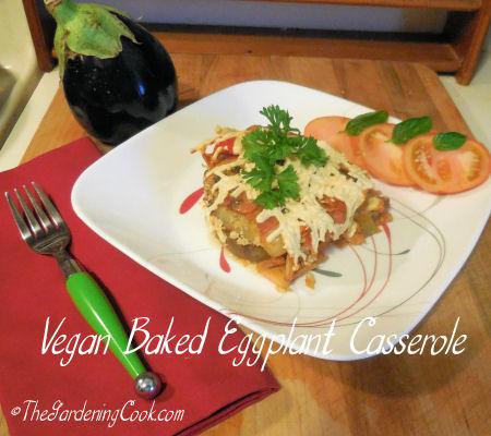 Vegan Baked Eggplant Parmesan