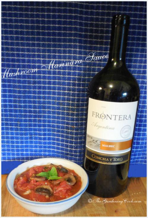 Home Made Mushroom Marinara Sauce - Fresh Tomatoes