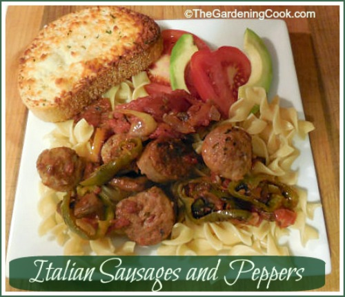 Italian Sausages and Noodles - Home Made Marinara Sauce