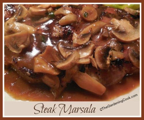 Steak Marsala with Mushrooms