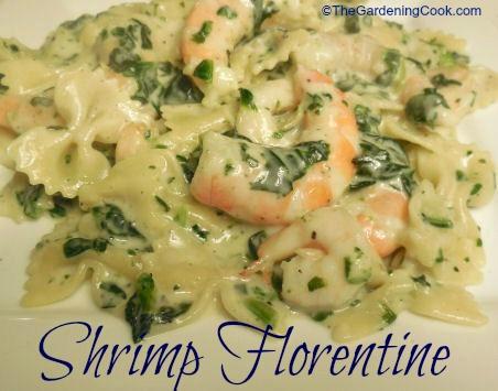 Shrimp Florentine with Bow Tie Pasta