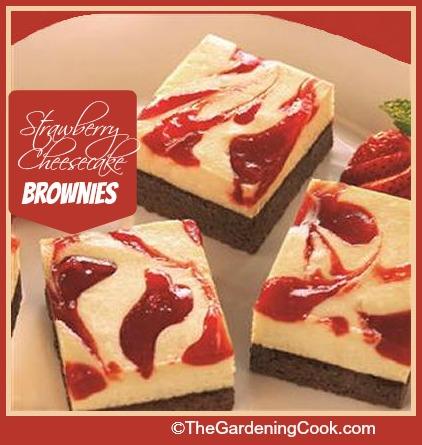 Strawberry Cheesecake Fudge Brownies