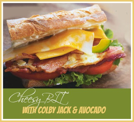 Cheesy BLT with Colby Jack and Avocado