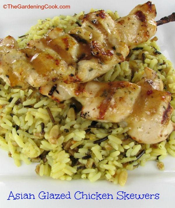Asian Glazed Chicken Skewers