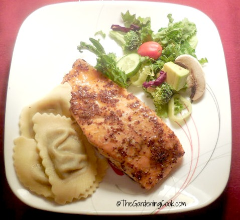 Baked Salmon with Maple Syrup and Mustard