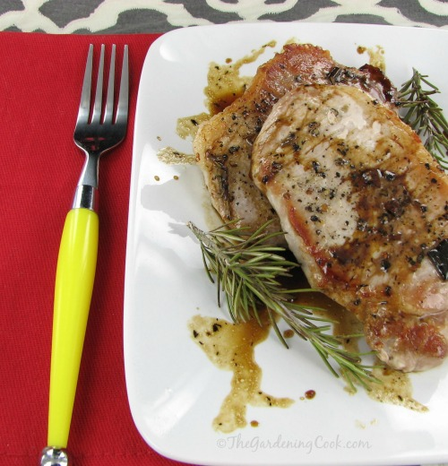 Pork Chops with a Balsamic Rosemary Reduction