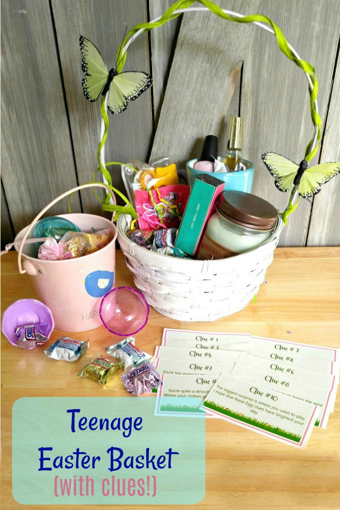 Teenage Easter Basket with Clues