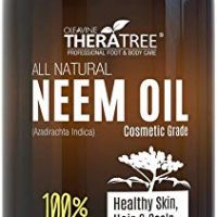 Neem Oil Organic & Wild Crafted Pure Cold Pressed Unrefined Cosmetic Grade 12 oz for Skincare, Hair Care, and Natural Bug Repellent by Oleavine TheraTree