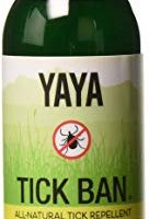 TICK BAN by Yaya Organics - Extra Strength Tick Repellent, DEET-Free, All-Natural, Proven Effective and Safe for Adults and Kids (4 ounce or 16 ounce Spray)