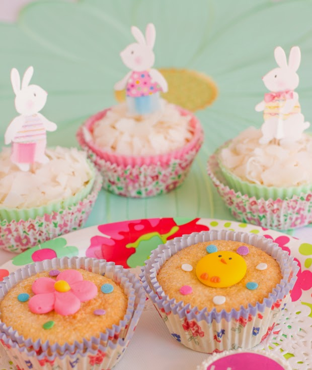 Easter Coconut and Cheese Cupcakes