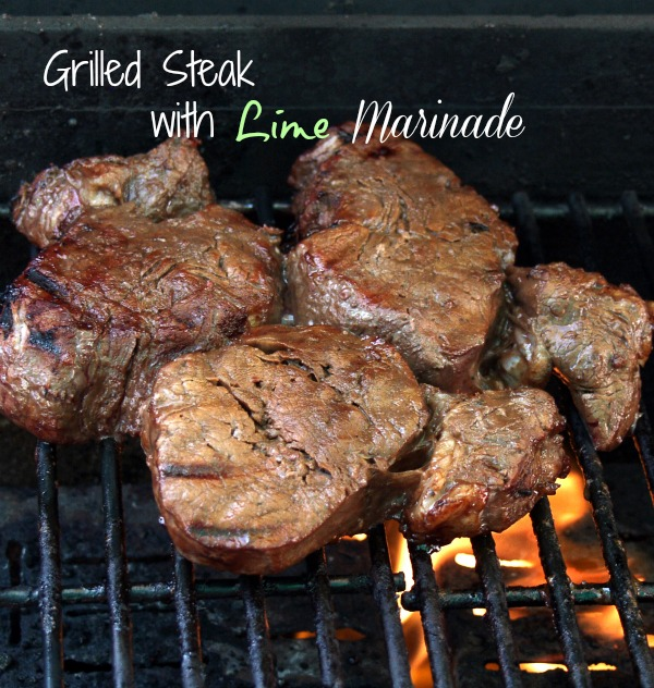 Grilled Top Round Steak with Lime
