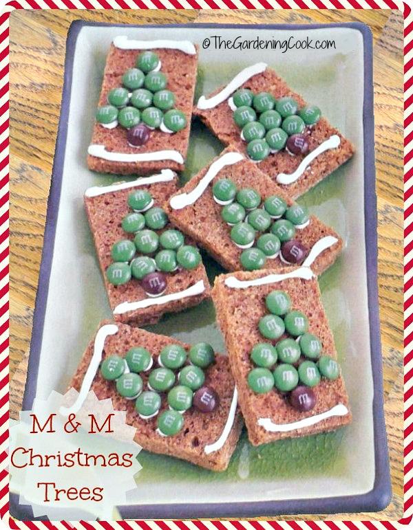 M & M Gingerbread Christmas Tree Cookies