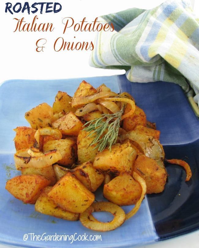 Roasted Italian Potatoes and Onions