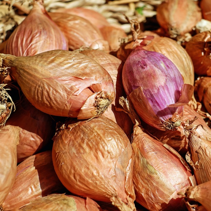 Shallots have a papery skin