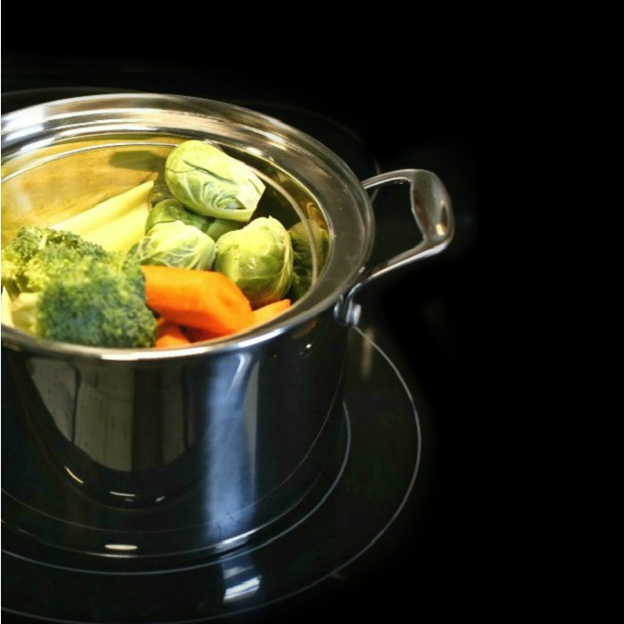 steamed vegetables in a pot