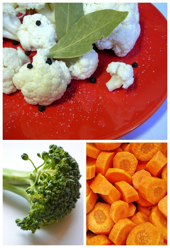 Cauliflower, broccoli and carrots all steam quickly