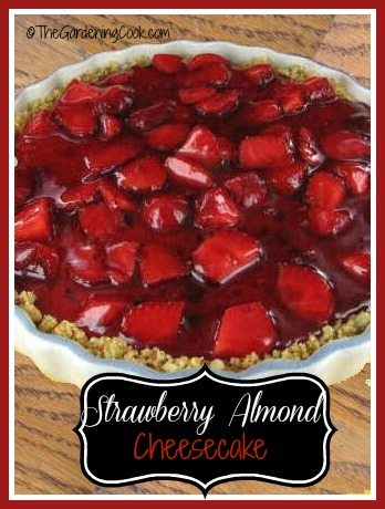 Strawberry Almond Cheesecake with Glaze Topping