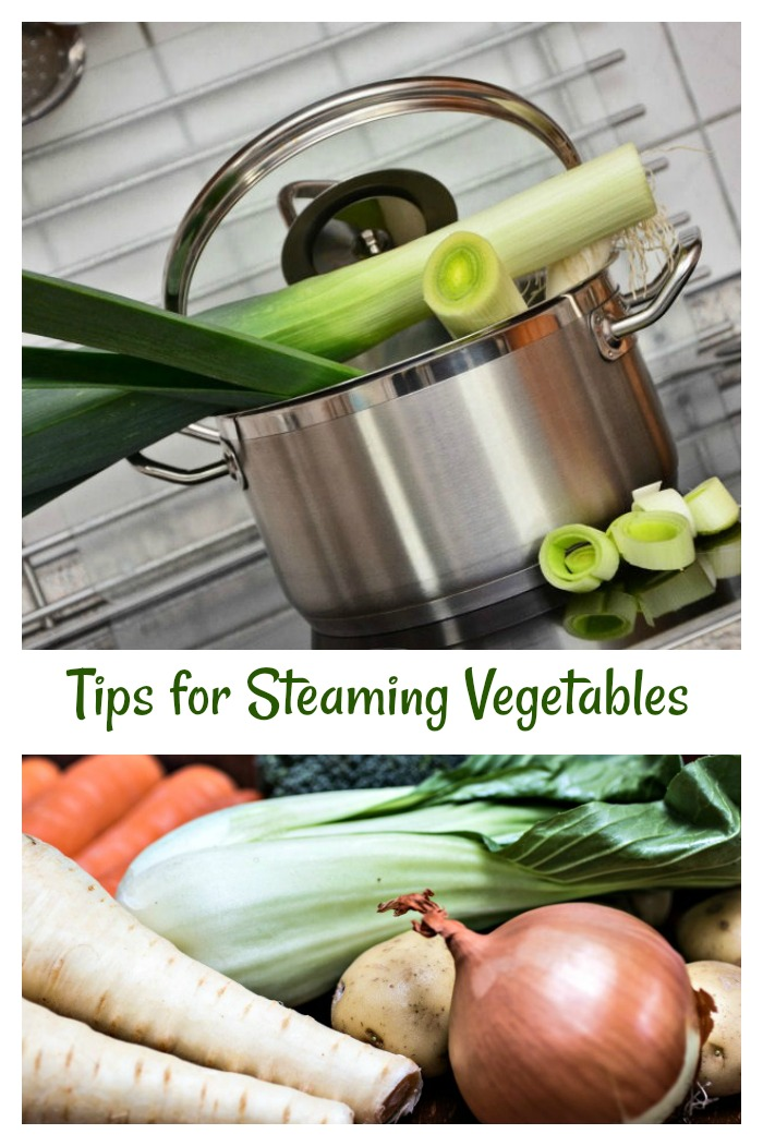 Get tips for steaming vegetables 4 ways along with vegetable steaming times