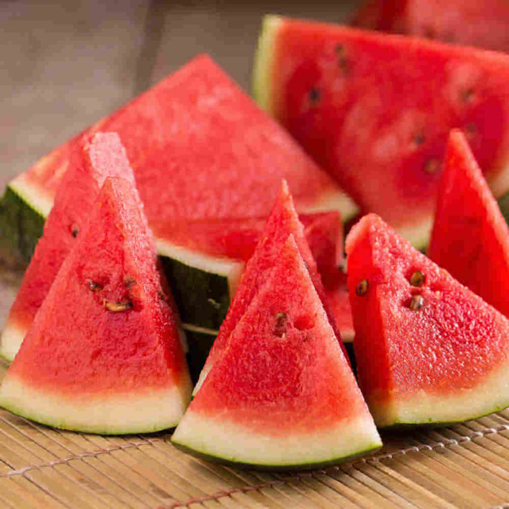 Ripe watermelon slices