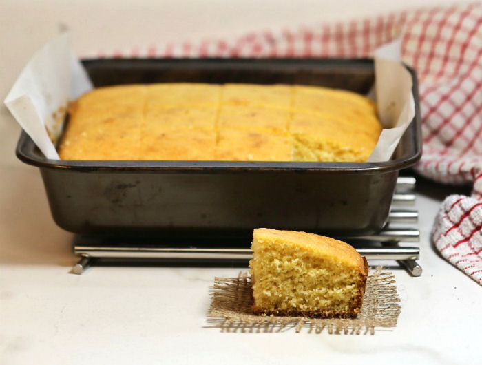 baked Southern cornbread