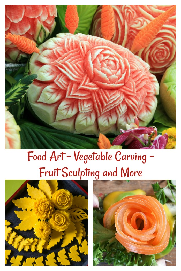 Find out about food art and vegetable carving