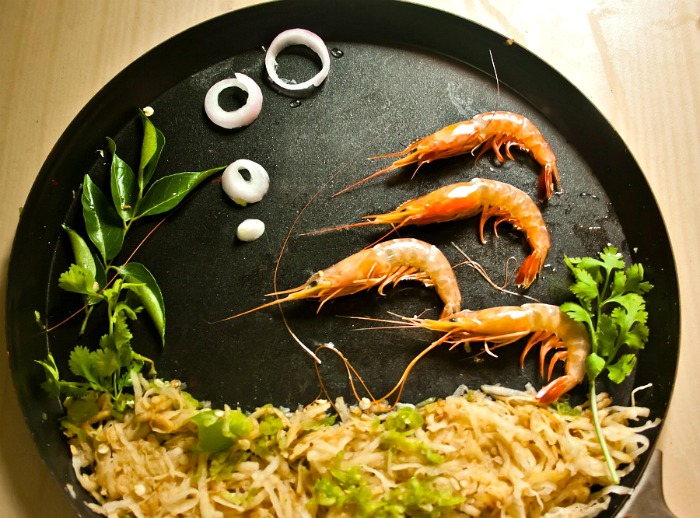 Shrimp Food Art